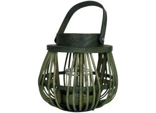 Zelená lucerna s ouškem - 20*22*21cm