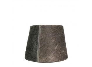 Stínidlo na lampu z hovězí kůže - hnědo šedá - 15*20* h 15cm