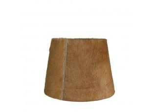 Světle hnědé stínidlo na lampu z hovězí kůže - 15*20* h 15cm