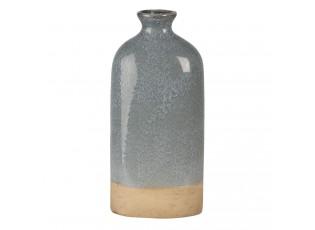 Šedo béžová keramická váza Maya S - 11*7*25 cm