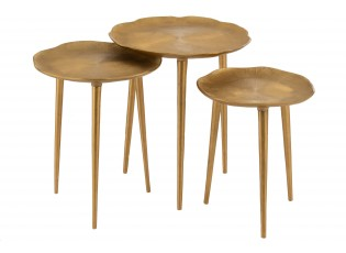 Set 3ks odkládacích stolků Irregular - 45*45*54 cm