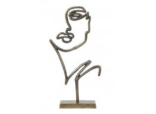Bronzová stolní dekorace ve tvaru obličeje Face antique bronze - 48*26*8 cm