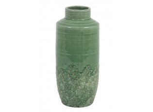 Zelená keramická váza Sierra seagreen - Ø13*29 cm