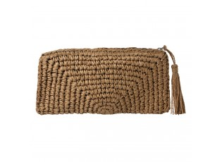 Hnědá drhaná kabelka do ruky - 28*16 cm