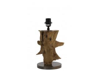 Hnědá dřevěná základna k lampě Sapri natural - Ø 18*30-40 cm / E27