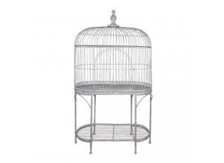 Šedá kovová dekorativní klec pro ptáčky Esna - 100*50*185 cm