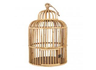 Proutěná dekorativní klec na ptáky - Ø 32*48 cm