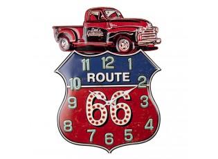 Nástěnné kovové hodiny Route 66 - 39*54 cm / 1*AA