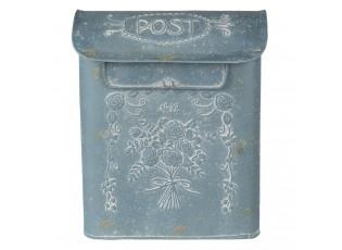 Modro šedá retro poštovní schránka No. 12 - 26*11*31 cm