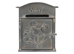 Šedá retro poštovní schránka Mail - 26*10*31 cm