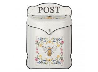 Krémová retro poštovní schránka s včelkou Bee Post - 27*8*39 cm