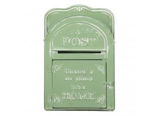 Zelená retro poštovní schránka Post Home s patinou  - 26*9*39 cm