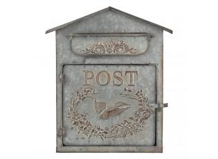 Poštovní plechová retro schránka - 31*12*36 cm