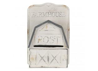 Bílo šedá retro poštovní schránka Farmhouse - 26*12*39 cm