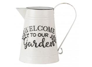 Dekorační plechový retro džbán Garden - 17*17*23 cm