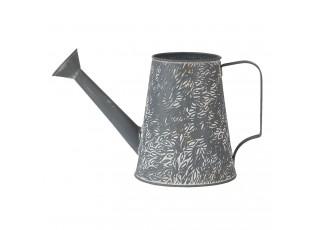 Šedo béžová dekorativní konévka - 14*14*17 cm