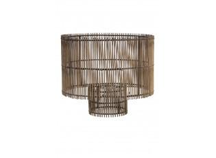 Hnědé bambusové stínidlo Rodger - Ø 40*35 cm
