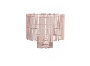 Světle růžové bambusové stínidlo Rodger - Ø 40*35 cm