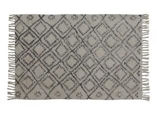Bílo černý obdélníkový koberec Boyaka se vzorem - 120*80 cm