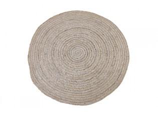Přírodně hnědý jutový kulatý koberec Irbi - Ø 120 cm