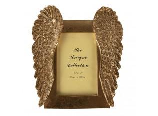 Zlatý fotorámeček s andělskými křídly - 24*2*26 cm