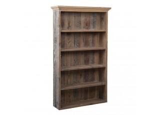 Hnědý dřevěný regál s policemi - 61*16*99 cm