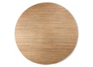 Přírodní kulatý konopný koberec Hemp - Ø 250cm