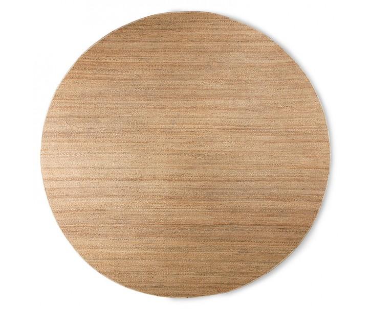 Přírodní kulatý jutový koberec Hemp - Ø 250cm