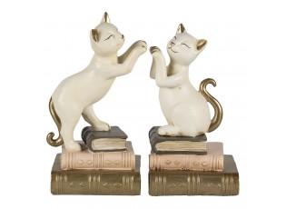Knižní zarážky ve tvaru hrajících si koček - 20*8*19 cm