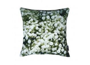 Sametový polštář s potiskem šateru / květinového závojíčku - 45*45*10cm