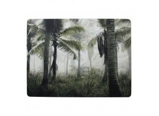 4k pevné korkové prostírání s palmami  Jungle in Fog - 30*40*0,4cm