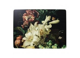 Pevné korkové prostírání s motivem květin a ovoce (4 ks) - 30*40*0,4cm