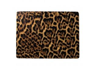 Pevné korkové prostírání s motivem leopardí kůže (4ks) - 30*40*0,4cm