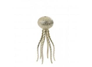 Zlatý kovový svícen Octopus M - Ø 13*32 cm