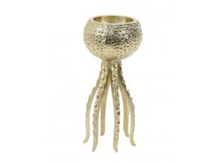 Zlatý kovový svícen Octopus S - Ø 13*25 cm