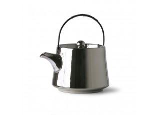 Stříbrná keramická ručně vyrobená konvička Bold & Basic - 0,7L