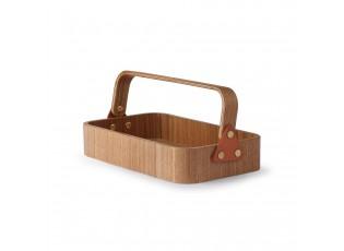Dřevěný obdélníkový box s držadlem Willow - 23*13*6cm