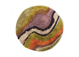 Barvný kulatý všívaný koberec Gradient - Ø 150cm