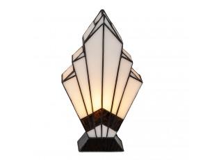 Béžová stolní lampa Tiffany Kirsty - 17*6*30 cm E27/max 1*40W