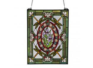 Skleněný nástěnný panel Tiffany Flowers - 46*61 cm