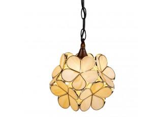Závěsné žluto krémové světlo Tiffany Bloom - Ø 31*91 cm E14/max 1*40W