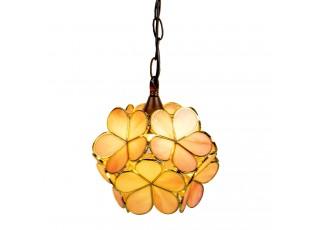 Závěsné žluté světlo Tiffany Bloom - Ø 31*90 cm E14/max 1*40W