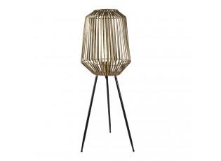 Zlatá kovová stojací lampa na 3 nohách Joel - Ø 29*80 cm