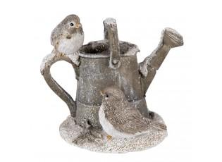 Dekorativní soška konve s ptáčky - 11*7*9 cm