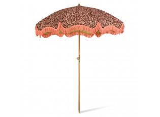 Korálově - hnědý slunečník Vintage by Doris - Ø 200*230 cm
