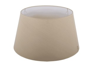 Béžové stínidlo na lampu Eleganza natural - Ø20*12cm / E27
