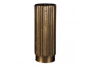 Zlatá dekorativní kovová váza Leah L - Ø 11*28 cm