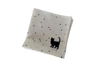 Sada bílých látkových ubrousků CAT s kočkou a srdíčky (6 ks) - 40*40 cm