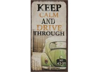 Kovový magnet Keep calm and drive through