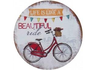 Kovový kulatý magnet Beautiful ride